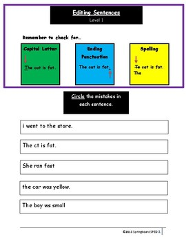 Simple Sentence Edit